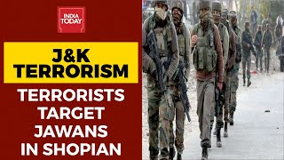 J&K : Terrorists Fire Upon CRPF Personnel At Mini Secretariat In Shopian District; Area Cordoned Off - Download this Video in MP3, M4A, WEBM, MP4, 3GP