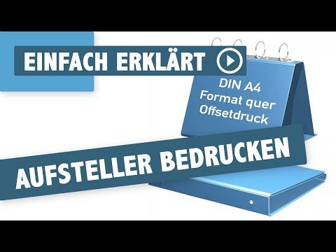 Aufsteller A4 quer, Magnetverschl., Gewebefolie mit Metalloptik und Zusatzveredelung