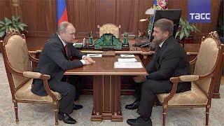 """Путин похвалил Кадырова за выполнение """"майских указов"""" в Чечне"""