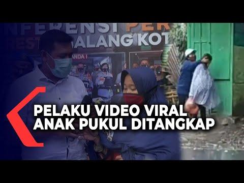 polresta malang tangkap pelaku video viral anak pukul ibu