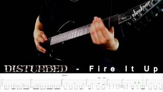 DISTURBED - Fire It Up Cover - Guitar Lesson with TABS & solo