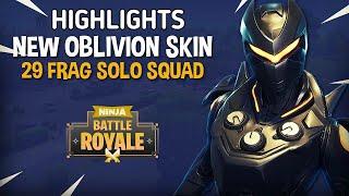 Highlights of NEW Oblivion Skin!! 29 Frag Solo Squad!! - Fortnite Battle Royale Gameplay - Ninja