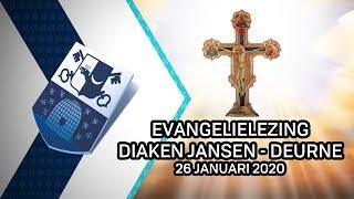 Evangelielezing diaken Jansen Deurne – 26 januari 2020 - Peel en Maas TV Venray