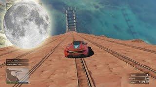 GRAVEDAD LUNAR - Gameplay GTA 5 Online Funny Moments (Carrera GTA V PS4)