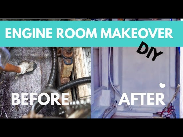 How to Fiberglass & Engine Room Makeover! (Sailing Nandji) Ep 120