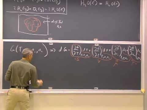 Clase 14 | MIT 5.60 Termodinámica y cinética, primavera de 2008 (sistemas multicomponentes, potencial químico)