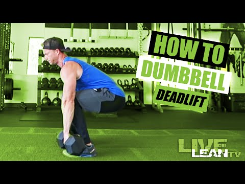 How To Do A DUMBBELL DEADLIFT | Exercise Demonstration Video and Guide