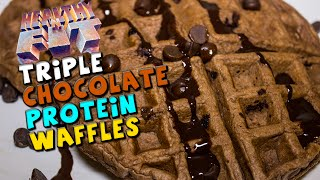 Triple Chocolate PROTEIN Waffles Recipe (Healthy 'N Fit)