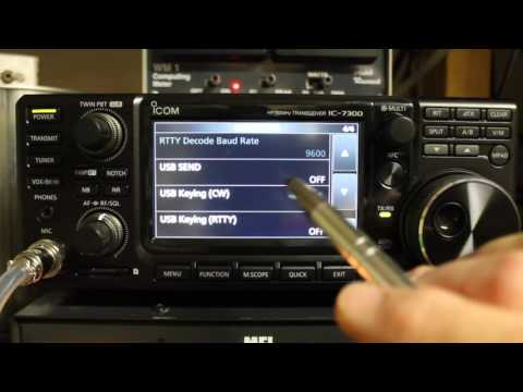 Icom 7300 using N4py Icom Software with SDRPLAY RUNO