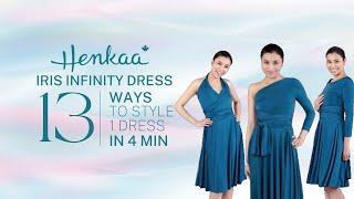 13 Ways To Wear A Long Sleeve Convertible Infinity Dress IRIS