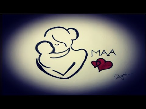 mother and baby drawing/Devyani chaubey