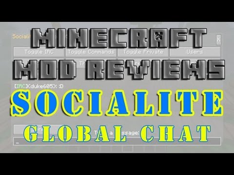 Minecraft Mod Reviews: Socialite - Global Chat! (HD)
