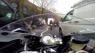 preview picture of video 'BMW S1000RR Slicing through London Traffic 01 - GoPro HD Hero3+ Blk 1080p SuperView'