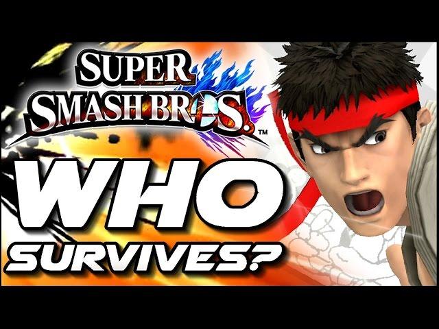 Super Smash Bros WHO CAN SURVIVE Ryu's Shoryuken in Lava Trap? (Wii U)