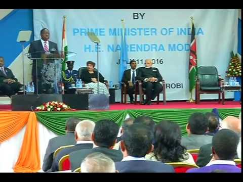 PM Modi addresses the students in University of Nairobi, Kenya