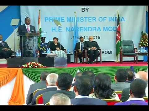 PM Modi addresses the students in University of Nairobi, Kenya