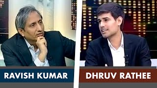 Ravish Kumar Interviews Dhruv Rathee on NDTV Prime Time | Full Interview