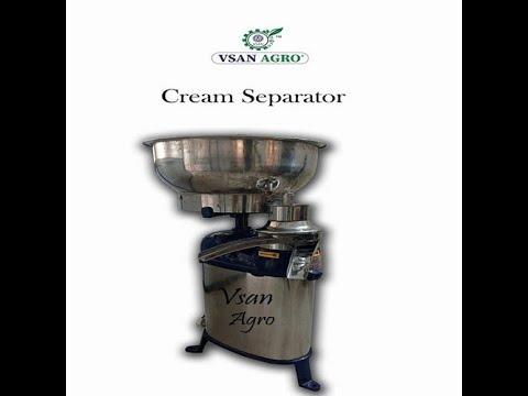 Vsan Agro 165 Lph Ss Cream Separator