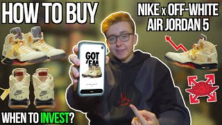 """HOW TO BUY Nike x Off-White Air Jordan 5 """"Sail"""" 