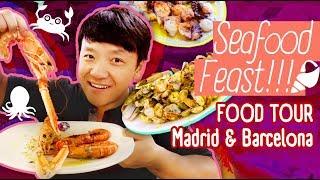 FRESH SEAFOOD FEAST! Food Tour Madrid & Barcelona