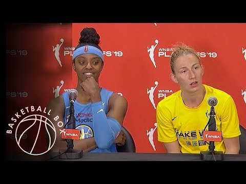 [WNBA Playoffs Round1] DeShields, Vandersloot, Post-Game Press Conference, September 11, 2019