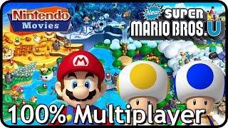New Super Mario Bros. U (Deluxe) - Full Game (All Worlds, 100% Multiplayer Walkthrough)