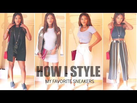 HOW I STYLE MY FAVORITE SNEAKERS / COMMENT JE PORTE MES SNEAKERS FAVORITES