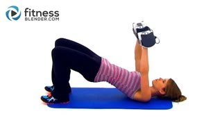 20 Minute Total Body Strength and Cardio Workout - Fitness Blender's Total Body Toning Workout
