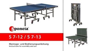 Sponeta S 7-12 / S 7-13 - Montageanleitung Tischtennistisch / Instructions for assembly and use