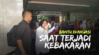 "Video Aksi Wali Kota Surabaya Risma Teriak ""Ayo Semua Keluar"" Bantu Evakuasi Kebakaran Gedung Siola"