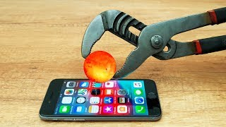 EXPERIMENT Glowing 1000 Degree METAL BALL vs Iphone