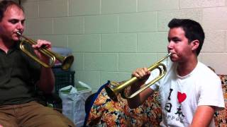 """Learning how to play """"Reveille"""" on the Bugle"""