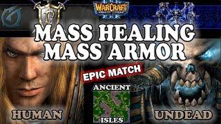 Grubby   Warcraft 3 The Frozen Throne   1.26   HU v UD - Mass Healing, Mass Armor - AI