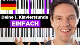 How to play piano - Your FIRST piano lesson - GERMAN Version