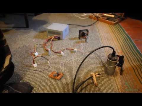 Генератор ВВ. Симметричный мультивибратор и катушка зажигания видео
