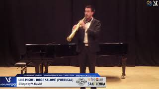 Luis miguel JORGE SALOME plays Sillage by V. David #adolphesax