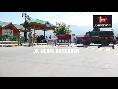 Tight security  in Srinagar Kashmir a head of Home Ministers visit. JKNO