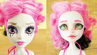Doll Repaint Monster High Gesicht schminken   Ein neues Gesicht für Rochelle Goyle   DIY Kids Club