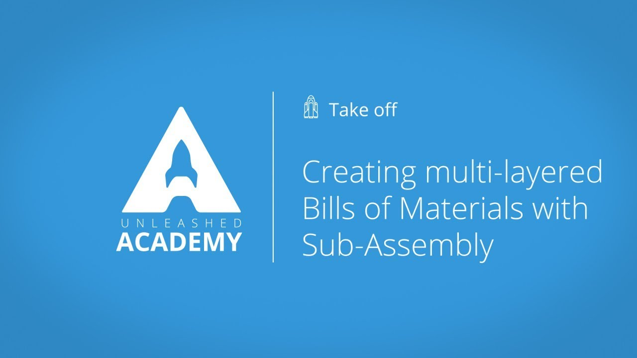 Creating multi layered Bills of Materials with Sub Assembly YouTube thumbnail image
