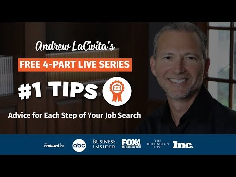 Resume Writing: Career Profile: #1's with Andrew LaCivita: Advice for Each Step of Your Job Search