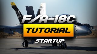 DCS World 2.5 F/A-18C Realistic Shore Startup Procedure