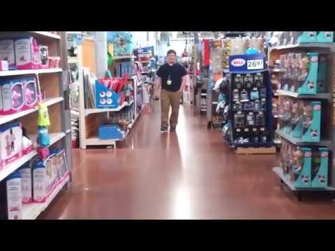 Walmart employee caught on camera