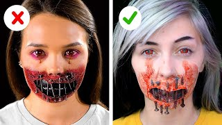 Trying Creepy Halloween Makeup and Costume Ideas By 5 Minute Crafts