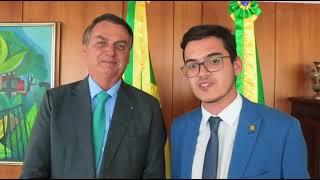 Vereador Carmelo Neto cumpre agenda em Brasília com o Presidente Bolsonaro