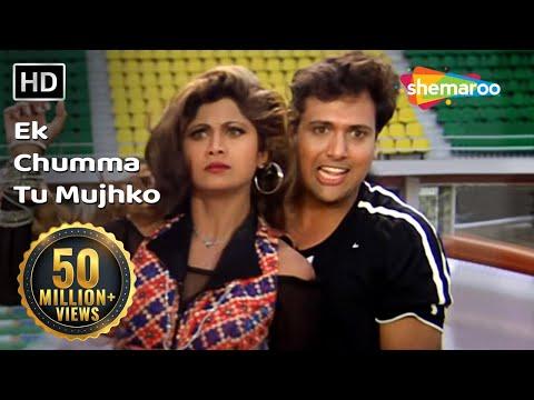 Download Ek Chumma Tu Mujhko (HD) | Chhote Sarkar Song | Govinda | Shilpa Shetty | 90's Classic Song HD Mp4 3GP Video and MP3