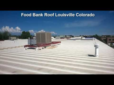 Food Bank Roof In Louisville Colorado for American Weatherstar Coating https://www.energystarexteriors.com/commercial-roofing/commercial-roof-coatings.htmlThe main types of commercial roof coatingsRoof coatings are essentially membranes that seal the entire roof underneath, restoring the roof and protecting it against severe weather and UV rays. They are directly installed on the existing roof's surface and are usually liquid-applied. The four most popular types are: