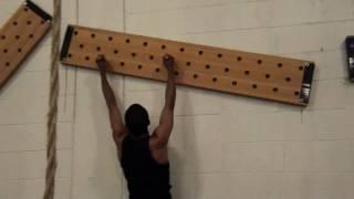 Peg Board climbing