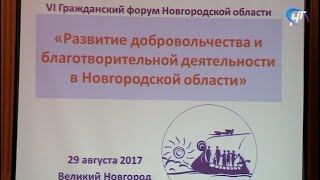 На 6-м Гражданском форуме Новгородской области обсудили развитие добровольчества и благотворительности