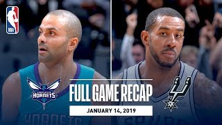 Full Game Recap: Hornets vs Spurs | Tony Parker Returns to San Antonio For The First Time