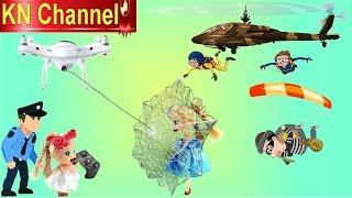 BÚP BÊ KN Channel CỨU TÊN TRỘM NGÂN HÀNG TỐT BỤNG | CAMERA BAY BẮN ĐƯỢC TƠ NHỆN